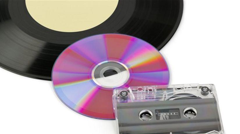 kazeta, platňa, CD