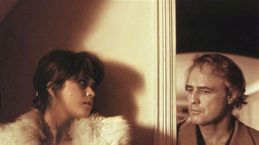 Maria Schneider a Marlon Brando vo filme...