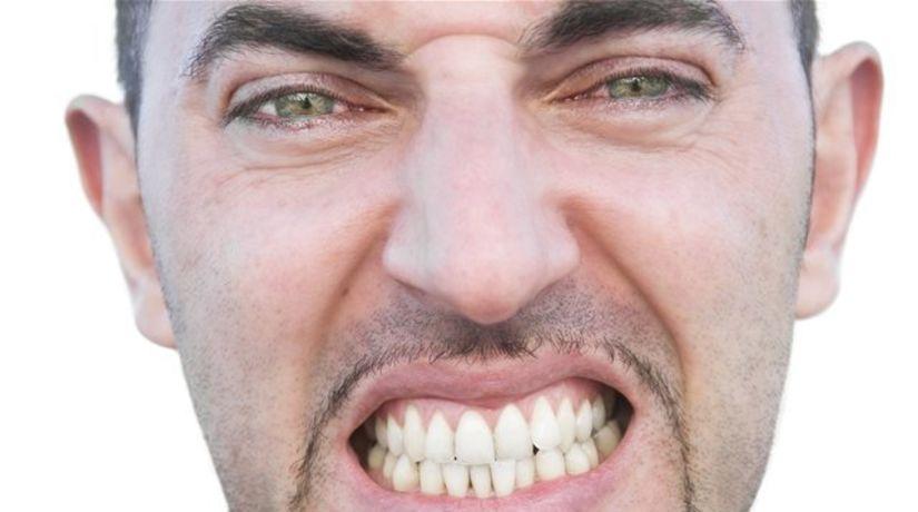 zuby, dent, škripot, tvár