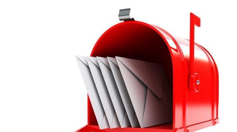 pošta. listy, poštový, schránka