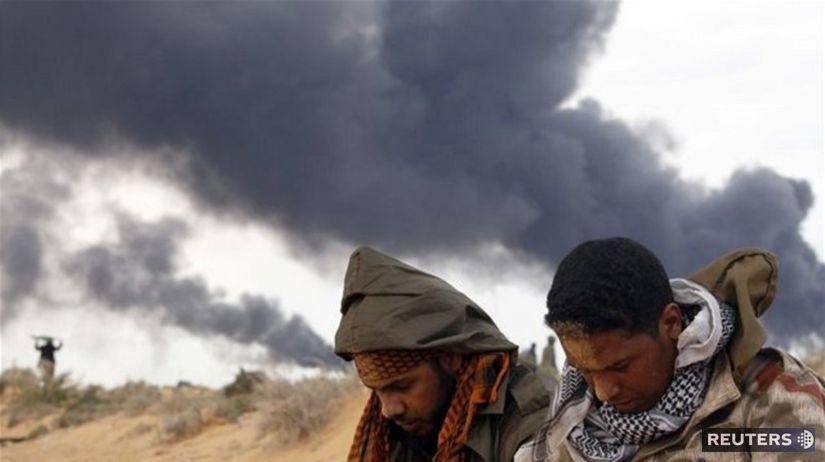 Líbya, bomba, výbuch, povstalci