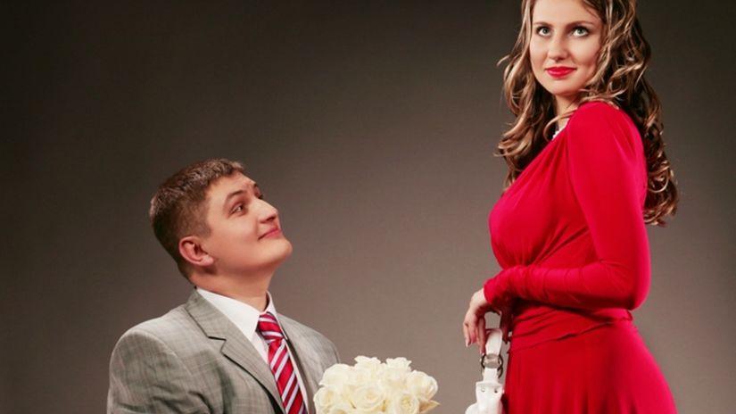 žiadosť o ruku, požiadanie, zásnuby, muž, žena,...