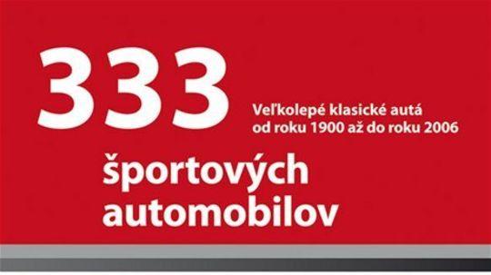 333 športových automobilov