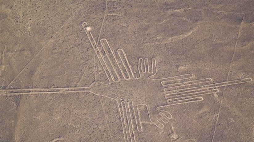 Najznámejší geoglyf je kolibrík, dlhý 180...