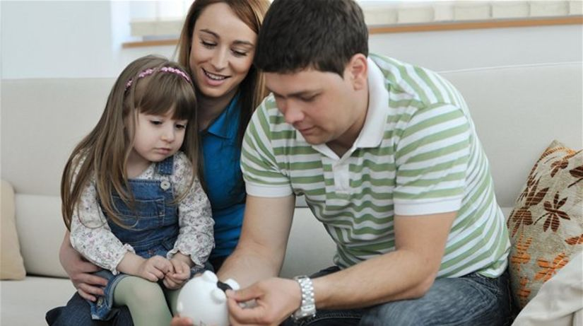 dieťa, sporenie, deti, rodina, peniaze