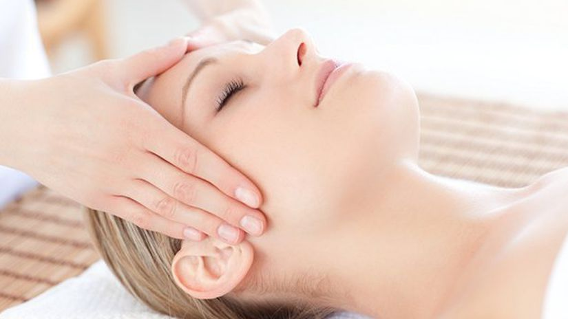 masáž, relax, hlava, welness