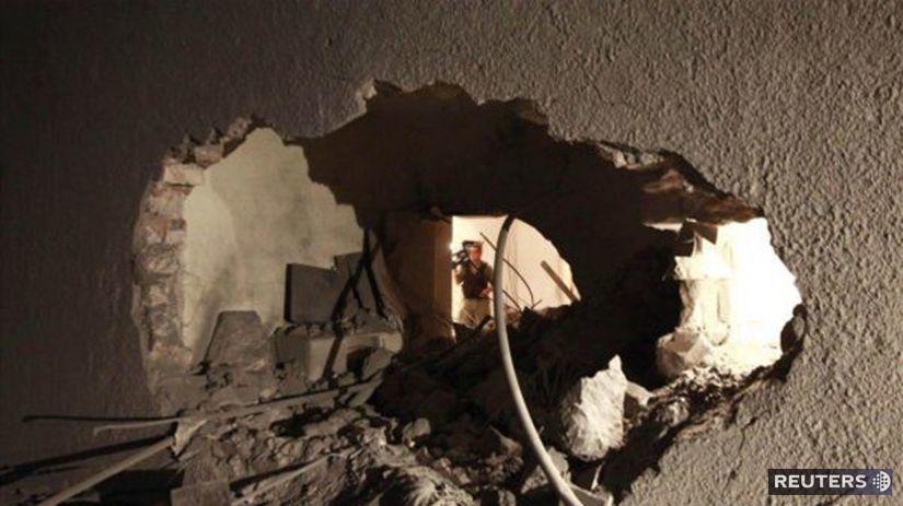 útok NATO na Kaddáfího rezidenciu