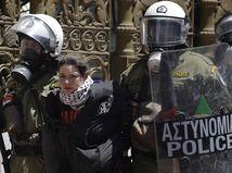štrajk v Aténach, Grécko