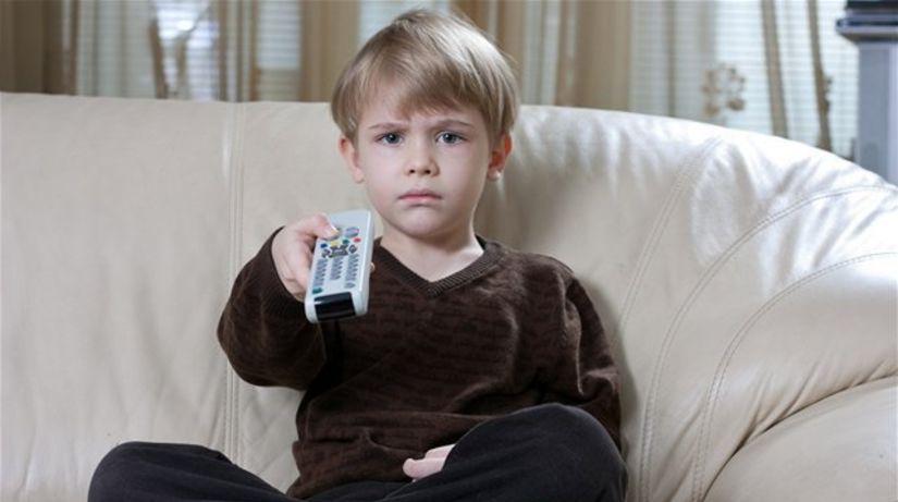 dieťa, televízor, voľný čas, ovládač