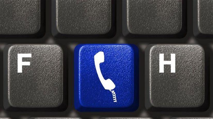 slúchadlo, klávesnica, skype, telefonovanie,...