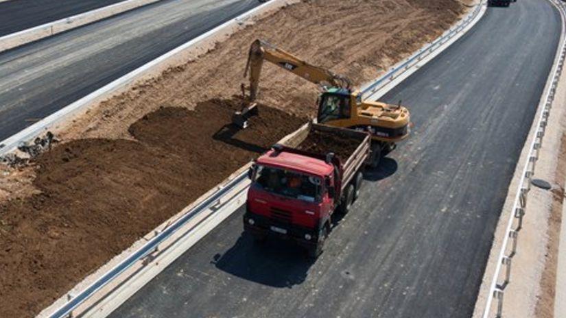 Nitra, rýchlostná cesta, cestári, výstavba,...