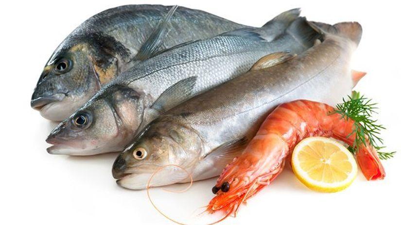 ryby - krevety - plody mora - selén - zinok -...