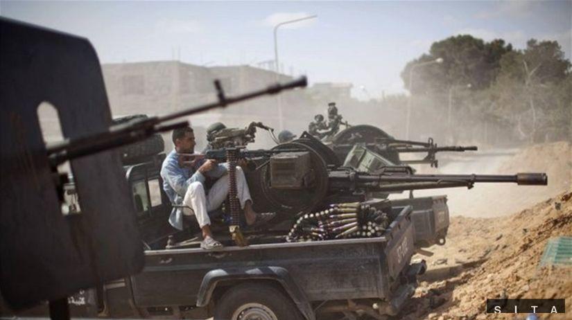 Líbya, povstalci, tank