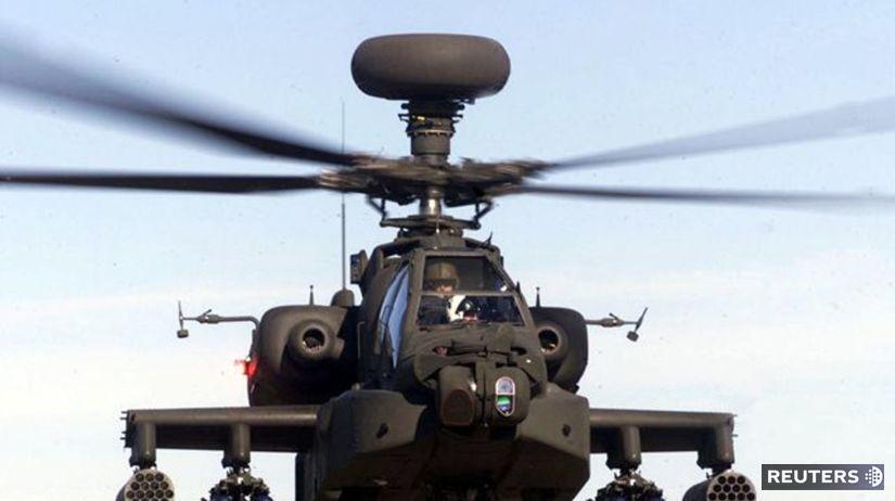 Líbya, britský vrtuľník
