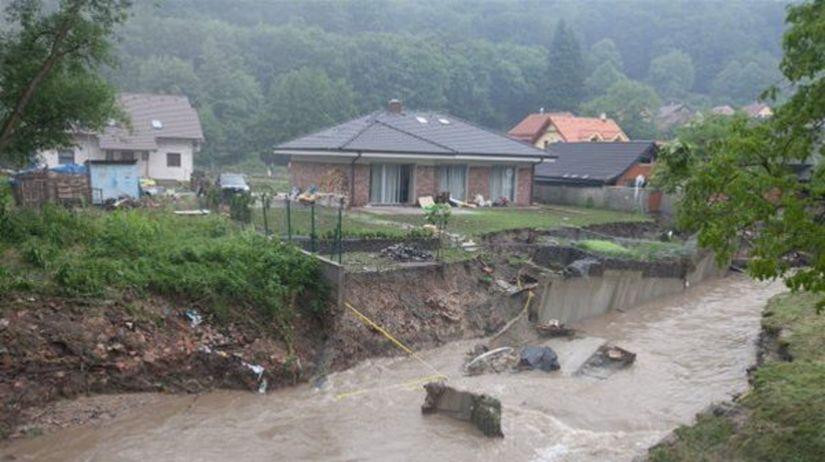 povodeň, prietrž mračien, Píla-Častá