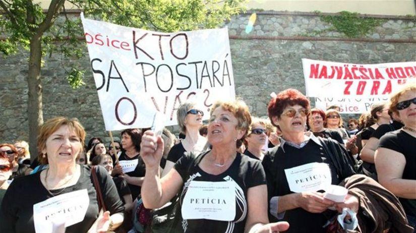 protest, štrajk, zdravotné sestry,...