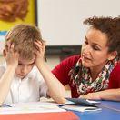 škola, školák, žiak, úloha, písanie, dieťa, matka