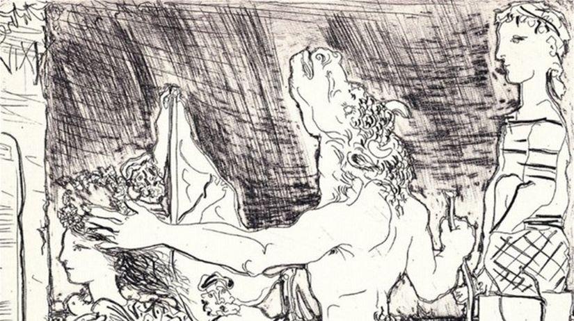 Pablo Picasso: Slepý Minotaurus sprevádzaný...