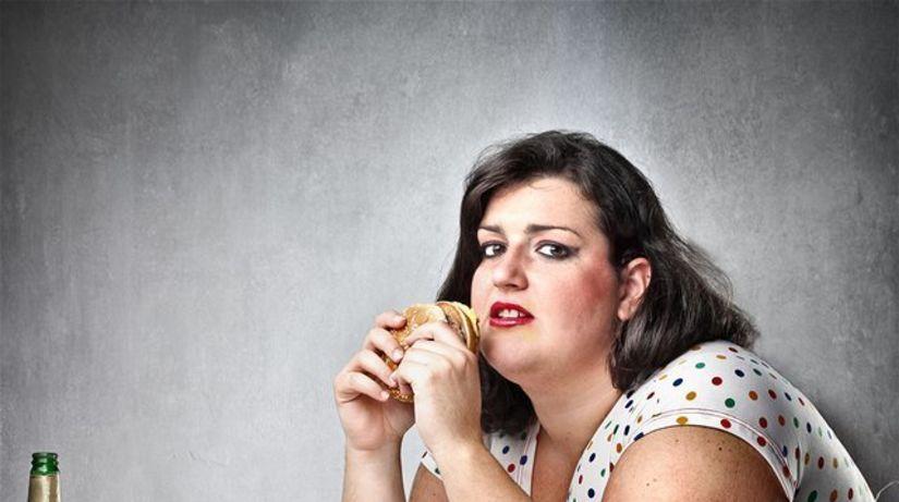 obezita - priberanie - prejedanie sa