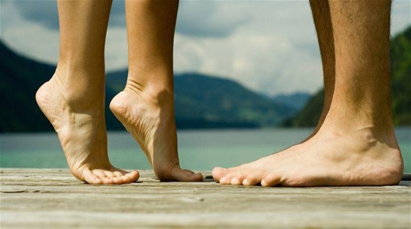 noha, nohy, chodidlá, pláž, bozk, bosý, bosá