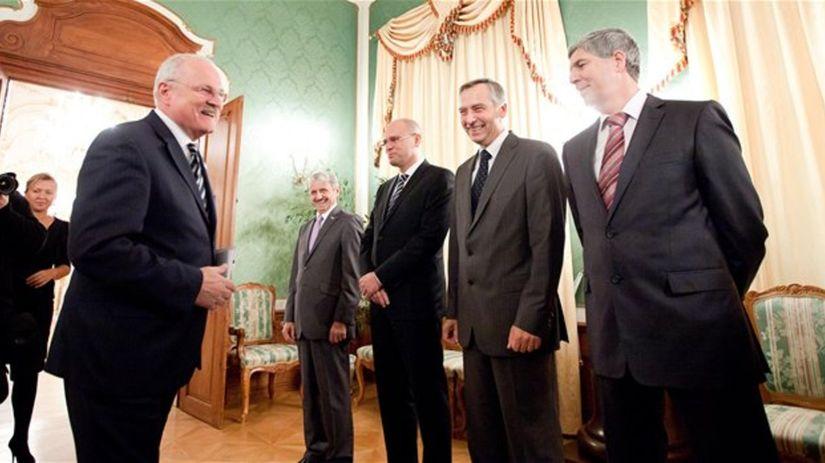 Gašparovič, Sulík, Dzurinda, Figeľ, Bugár