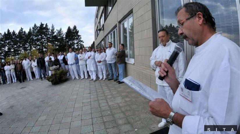 lekári, protest, Prešov