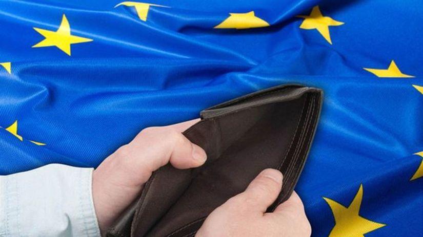 EÚ, Európska únia, peniaze, peňaženka, vlajka
