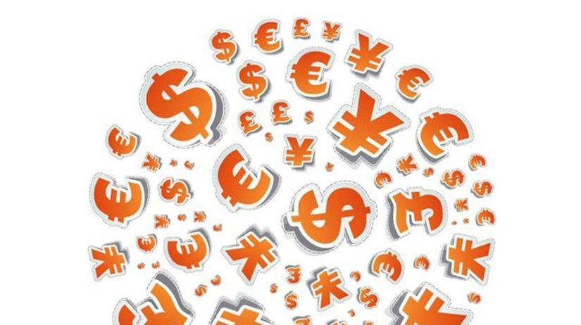 Peniaze, jen, libra, dolár euro