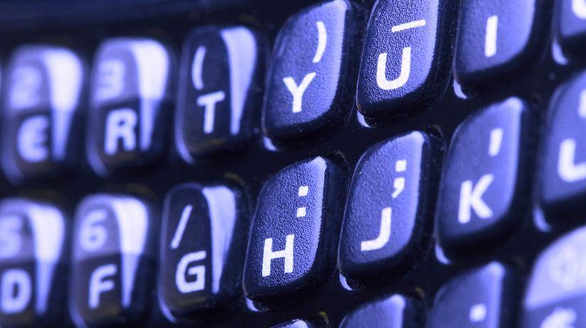 Blackberry, telefón, mobil, klávesnica, práca,...