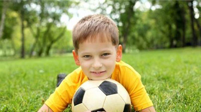 futbalista, dieťa, futbal, lopta