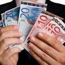 Euro, peniaze, výplata, mzda