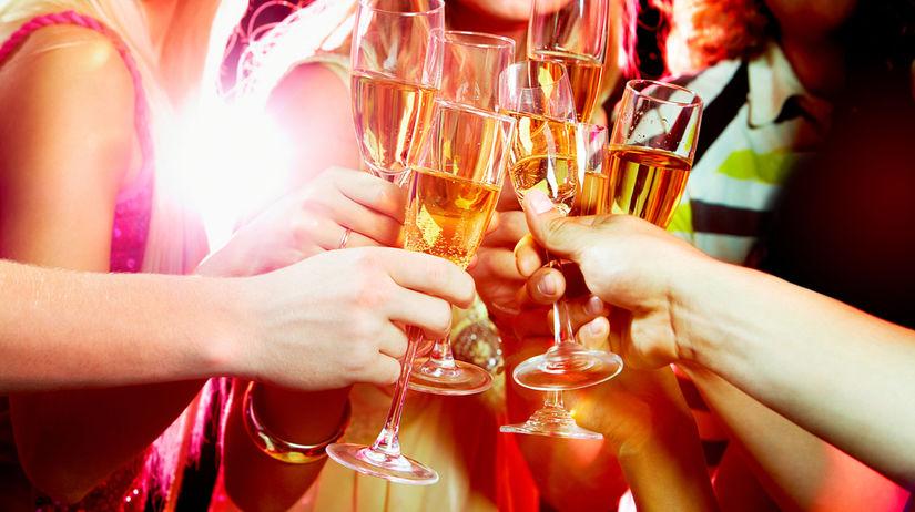 nový rok, silvester, oslava, alkohol, prípitok,...