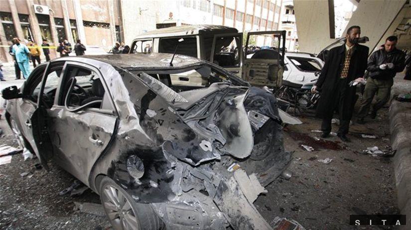atentát, sýria