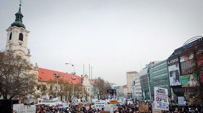 Gorila 2, protest v Bratislave