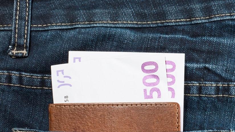 plat. euro, peniaze, výplata