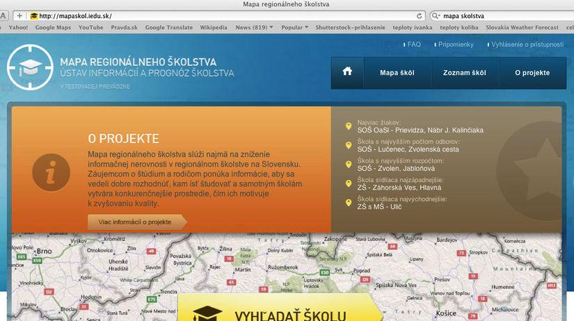 Mapy regionálneho školstva