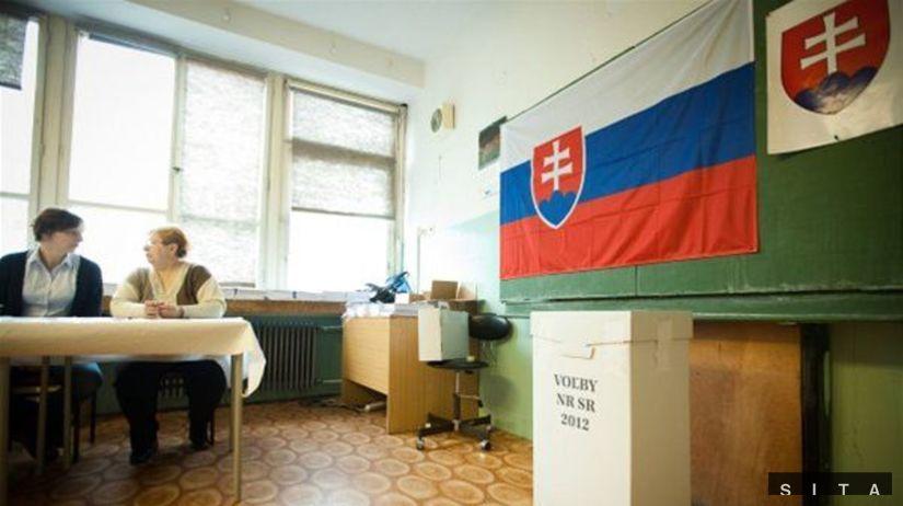 voľby 2012, volebná miestnosť, hlasovanie