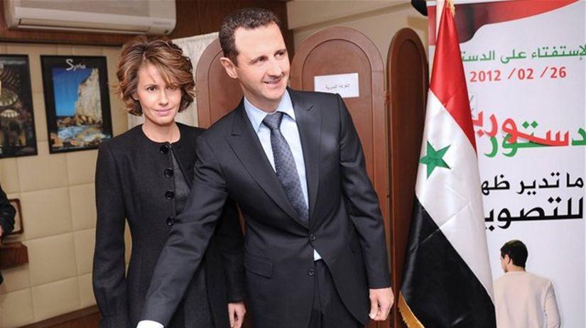 Asma Asadová, Bašár Asad