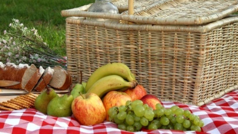 piknik, kôš, jedlo, výlet, cestovanie, strava,...
