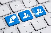 facebook, sociálna sieť, like, chat, komunikácia, online