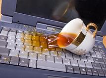 poliaty notebook, káva, klávesnica, záruka, laptop