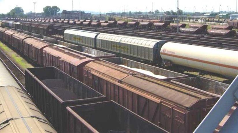 vlaky, vagóny, prekladisko