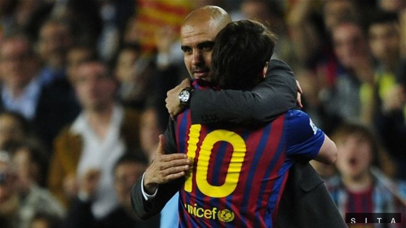 Pep Guardiola, Lionel Messi