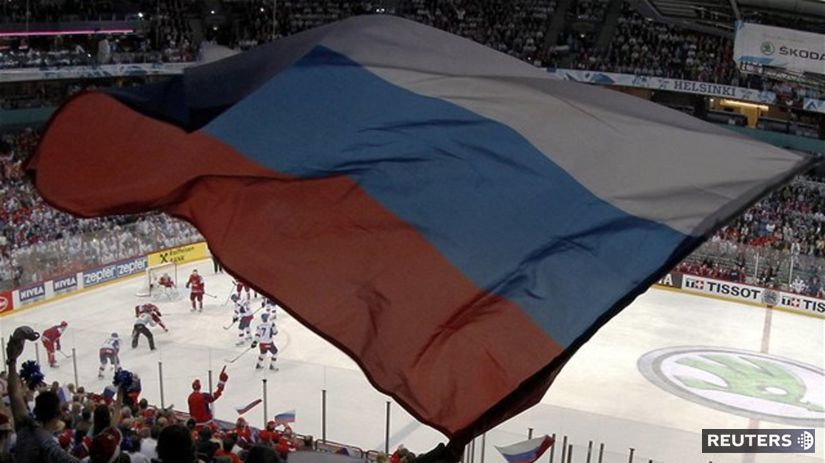 Ruská vlajka.