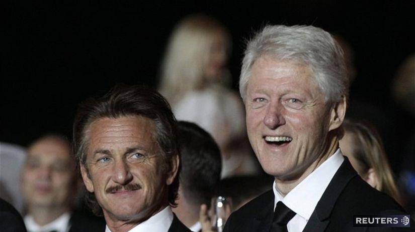 Sean Penn (vľavo) a bývalý americký prezident...