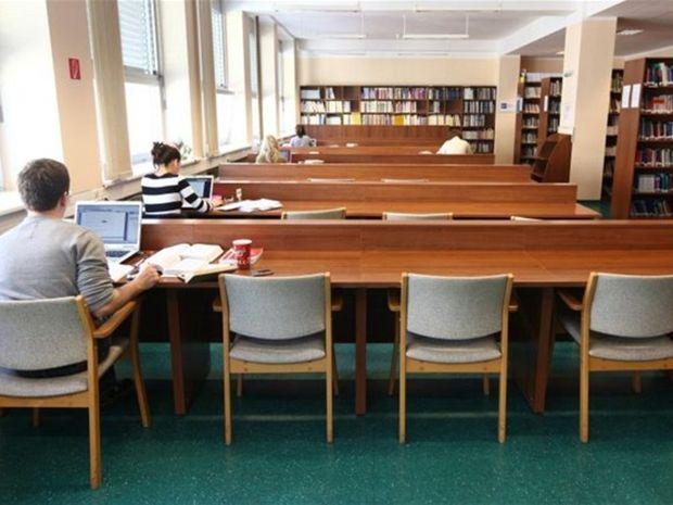 knižnica, študenti, knihy, štúdium