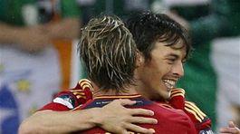 Fernando Torres a David Silva