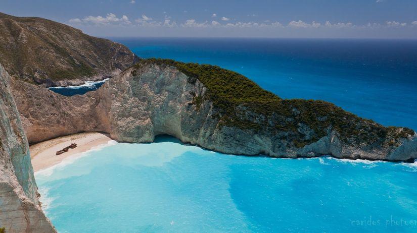 Grécko, pláž, Zakynthos