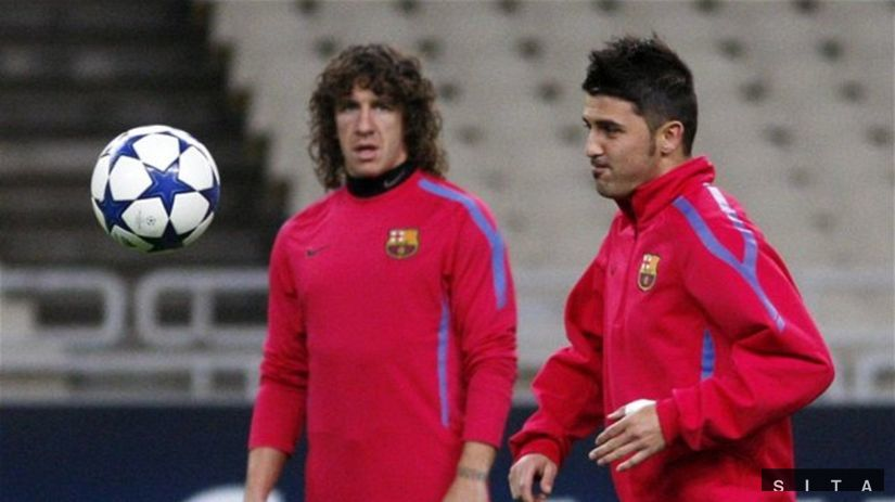 David Villa, Carles Puyol