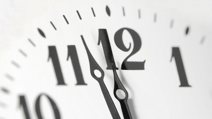 hodiny, polnoc, obed, čas